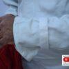 Klettverschlussriemchen am Handgelenk Strahleroverall RSSO-FL