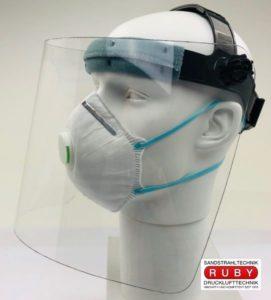 Gesichtschutzschild, Gesichtsvisir, Gesichtsschild, Schutzschild